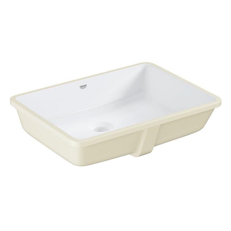 umývadlo vstavané CUBE Ceramic 50cm s prepadom biele