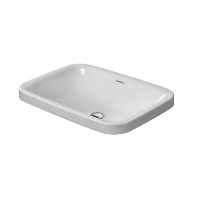 umývadlo zápustné DURA STYLE 60 x 43 cm bez prepadu biela WG