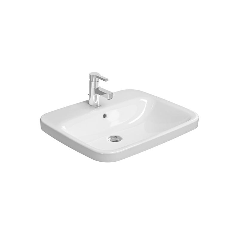 umývadlo zápustné DURA STYLE 61,5 x 49,5 cm biele