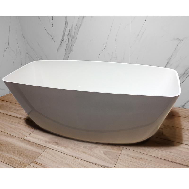 vaňa voľne stojaca WhiteStone 156 bez prepadu so sifónom 156 x 70 x 47,5 cm /celk. výška 58 cm/ biela lesklá