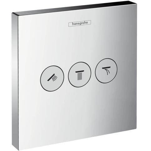 ventil 3-cestný ShowerSelect chróm tlačítkový na Ibox