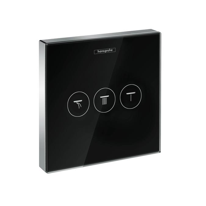 ventil podom ShowerSelect glass pre 3 spotrebiče čierna/chróm