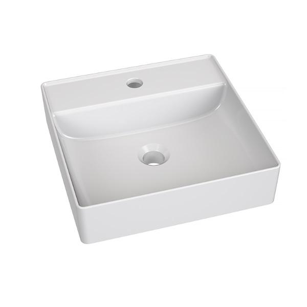 VILAN ELAN 40 keramické umývadlo na dosku - miska 40 x 40 x 10 cm biela
