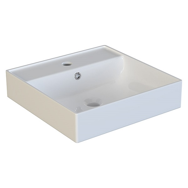 VILAN ELAN - keramické umývadlo na dosku - miska 40 x 40 x 10 cm biela