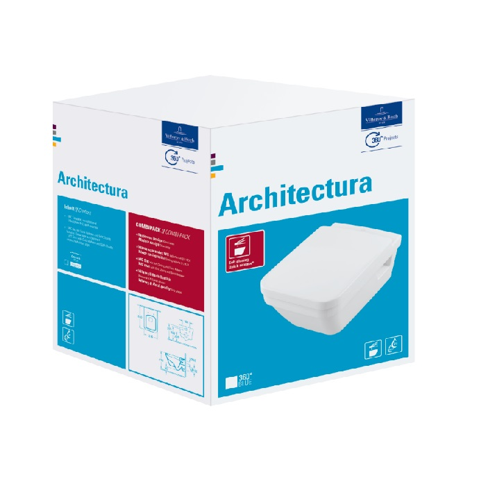 VILLEROY & BOCH Architectura WC misa závesná Directflush so sedátkom 5685HR01