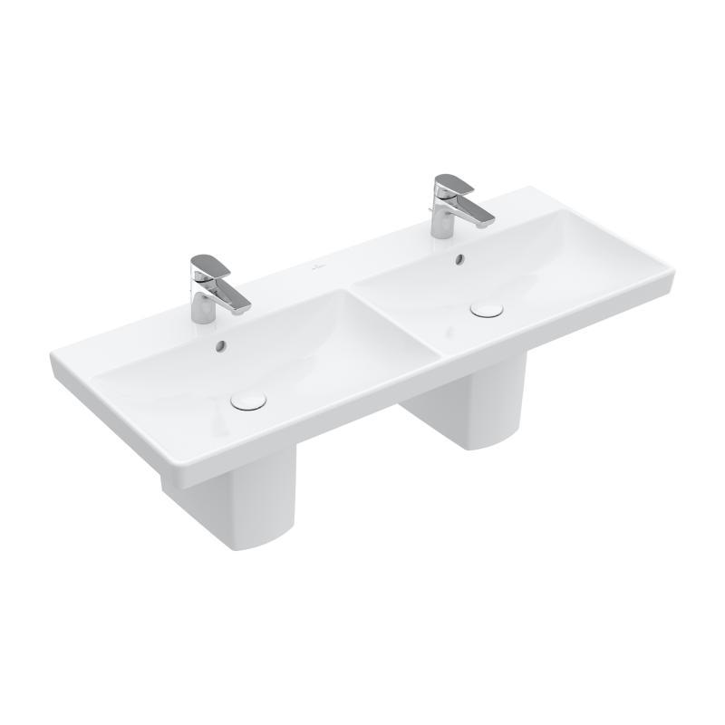 VILLEROY & BOCH Avento dvojumývadlo na skrinku 120 x 47 cm biela 4A23CG01
