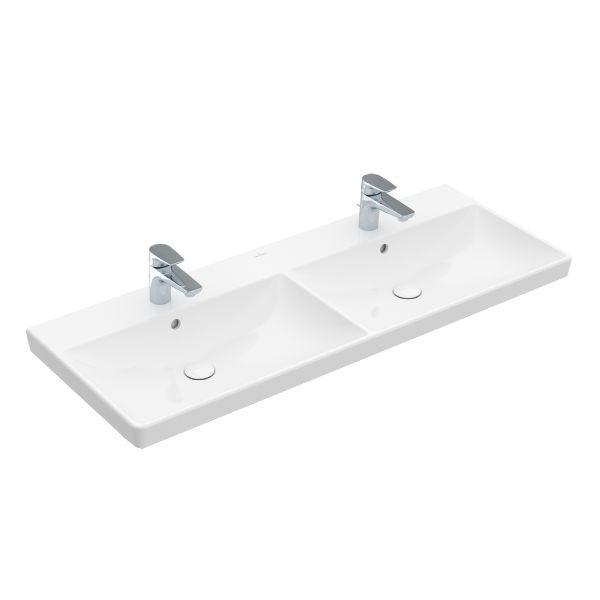 VILLEROY & BOCH Avento dvojumývadlo na skrinku 120 x 47 cm biela C+ 4A23CKR1
