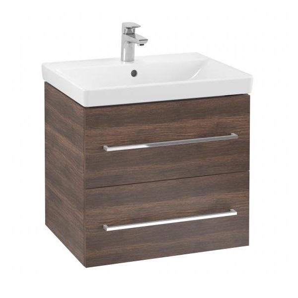 VILLEROY & BOCH Avento - skrinka s umývadlom 580x514x452 mm, 2 zásuvky, Arizona Oak 397849