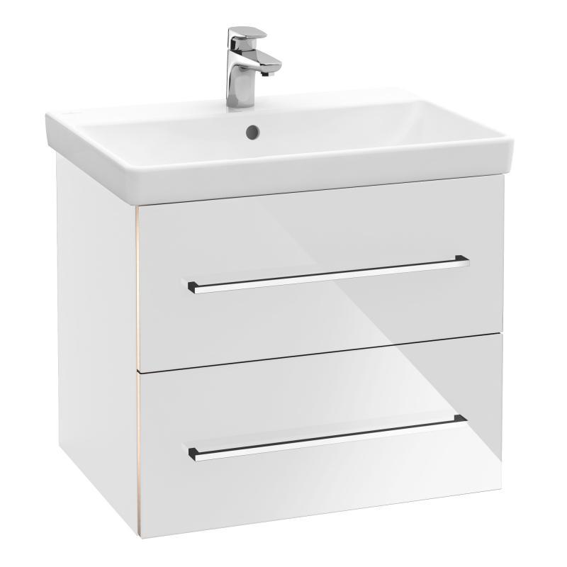 VILLEROY & BOCH Avento skrinka s umývadlom 580x514x452 mm, 2 zásuvky, Crystal White 397859