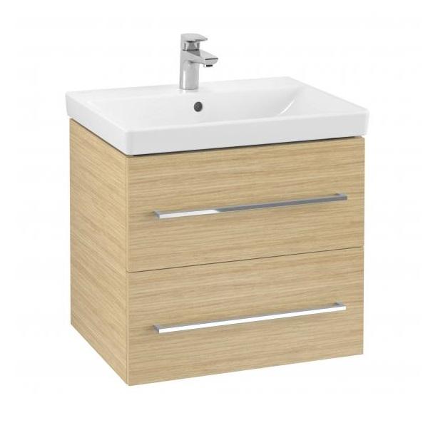 VILLEROY & BOCH Avento skrinka s umývadlom 580x514x452 mm, 2 zásuvky, Nordic Oak  397860