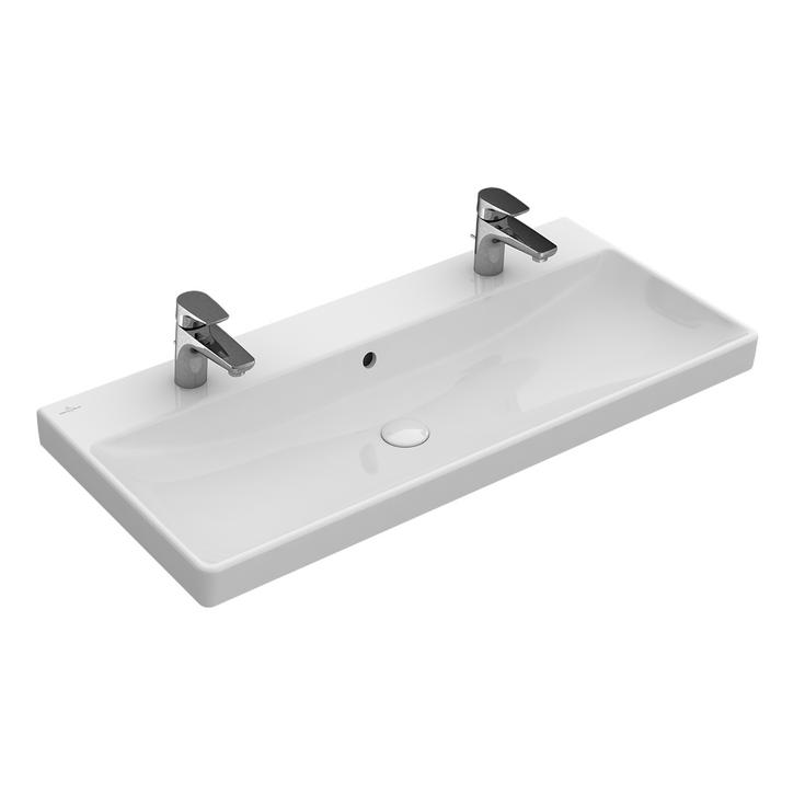 VILLEROY & BOCH Avento umývadlo 100x47cm 2-otvorové  4156A401