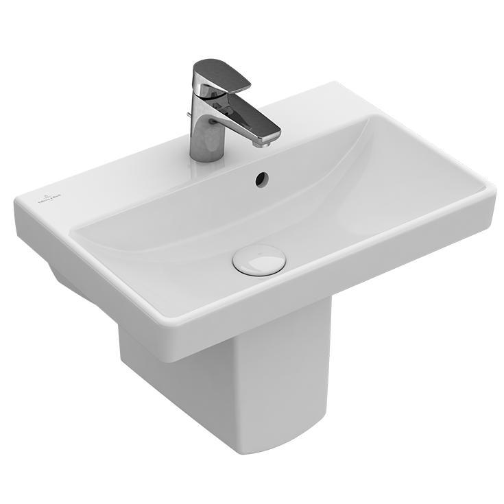 VILLEROY & BOCH Avento - umývadlo 55 x 37 s prepadom biele s CeramicPlus
