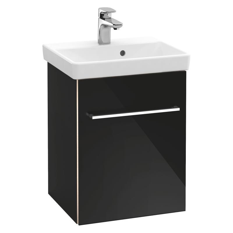 Villeroy & Boch Avento - Umývadlová skrinka, 430x514x352 mm, 1 dvierka, Crystal Black A88700B3
