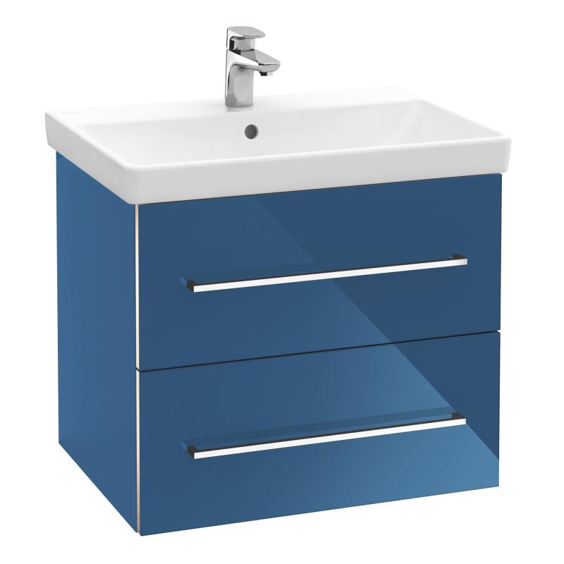 VILLEROY & BOCH Avento - Umývadlová skrinka, 580x514x452 mm, 2 zásuvky, Crystal Blue A88900B2