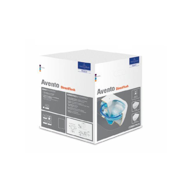 VILLEROY & BOCH Avento WC misa závesná DirectfFush so sedátkom SoftClose 5656RS01