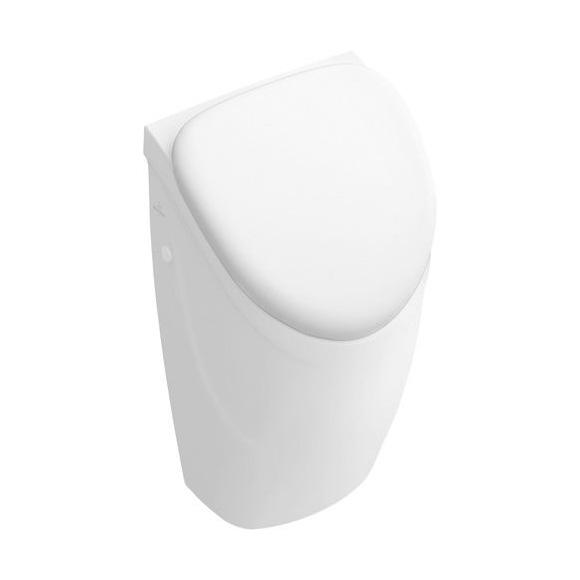 VILLEROY & BOCH O.NOVO pisoár so skrytým prívodom , model pre poklop biela 75570101
