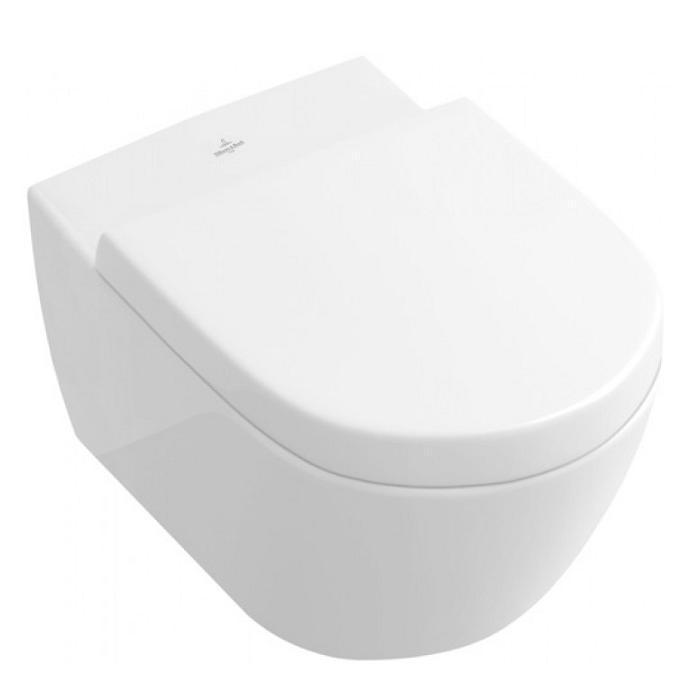 VILLEROY & BOCH SUBWAY 2.0 misa WC závesná ViSeat, SupraFix 2.0, DirectFlush a Aquareduct biela C+ 5614B0R1