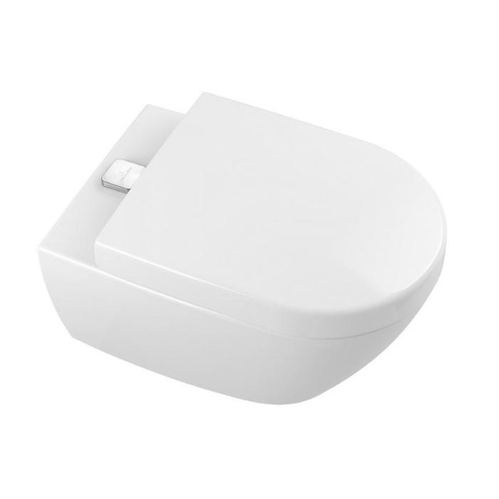 VILLEROY & BOCH Subway 2.0 závesná WC misa DirectFlush, ViFresh, AntiBac biela C+ 5614A1T2