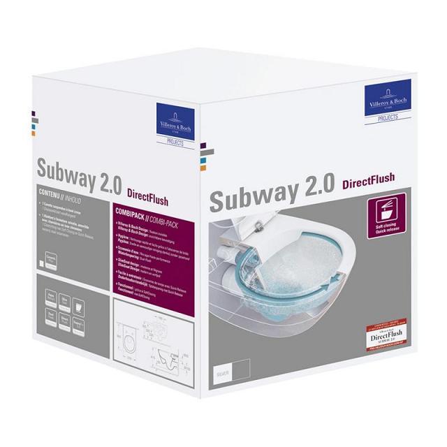 VILLEROY & BOCH Subway 37 x 56 cm misa WC závesná DirectFlush 5614R2R1