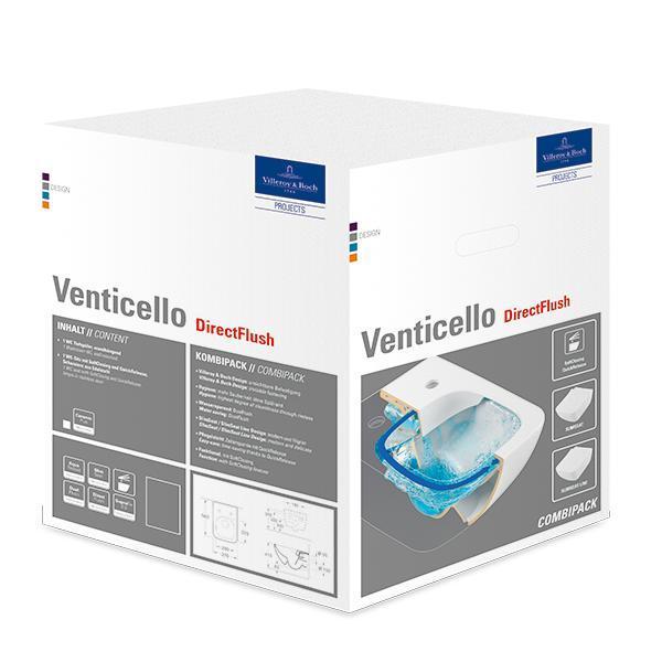 VILLEROY & BOCH Venticello WC misa závesná Directflush so sedátkom 4611RS01