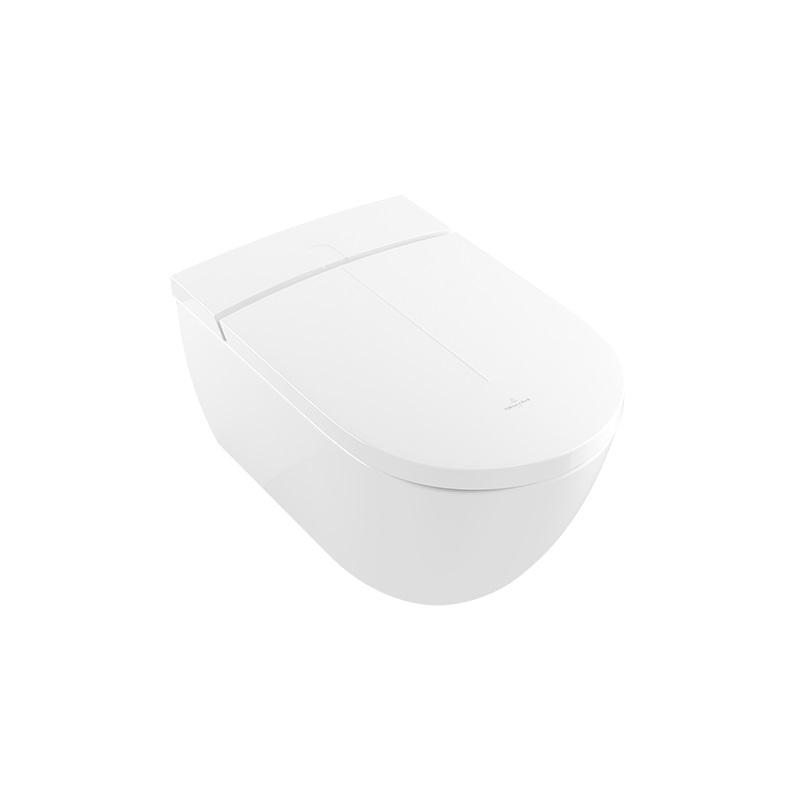 VILLEROY & BOCH ViClean-l100 závesná WC misa s bidetovým sedátkom s CeramicPlus V0E100R1