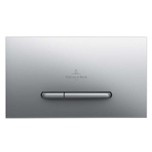 VILLEROY & BOCH ViConnect E300 splachovacie WC tlačítko matný chróm 92218069