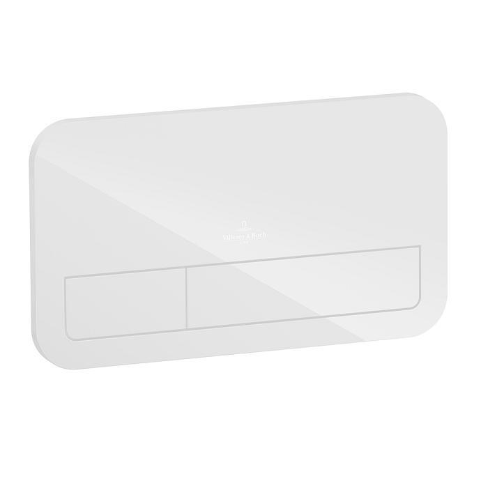 VILLEROY & BOCH Viconnect tlačítko splachovacie M200 sklo biele 922490RE