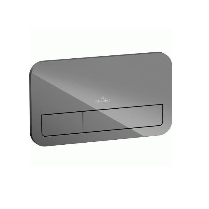 VILLEROY & BOCH Viconnect tlačítko splachovacie M200 sklo šedé 922490RA