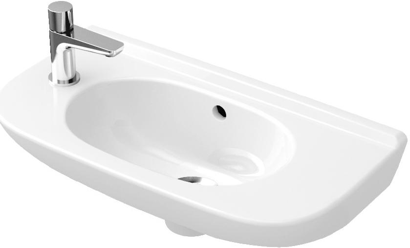 Villeroy&Boch O.Novo umývadielko 50 x 25 otovor vľavo biela