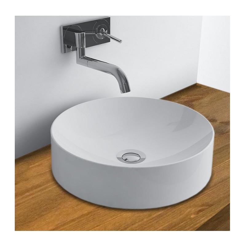 WhiteStone 401 umývadlo na dosku bez prepadu biela lesklá M4840101