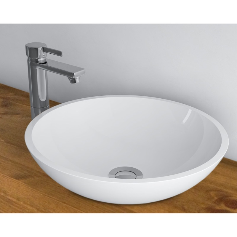 WhiteStone 412 umývadlo na dosku bez prepadu biela lesklá M4841201