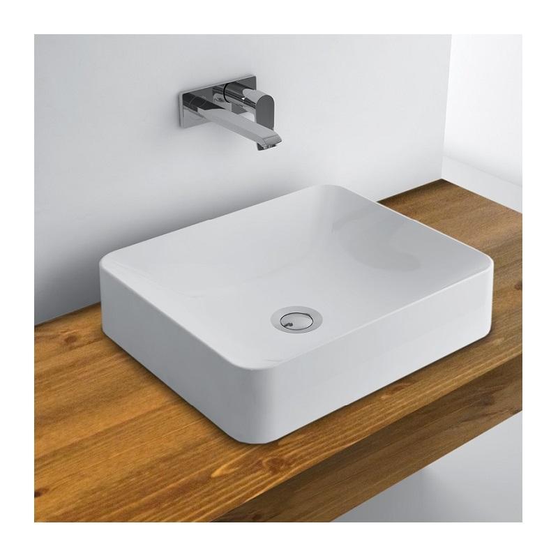 WhiteStone 450 umývadlo na dosku bez prepadu biela lesklá M4845001