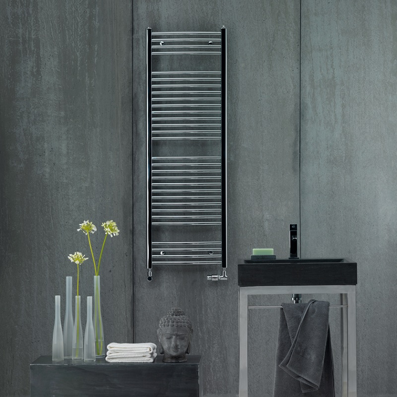 ZEHNDER Aura elektrický radiátor 122,6 x 60 s vykurovacou tyčou 400W chróm, PBECZ-120-60/MQ