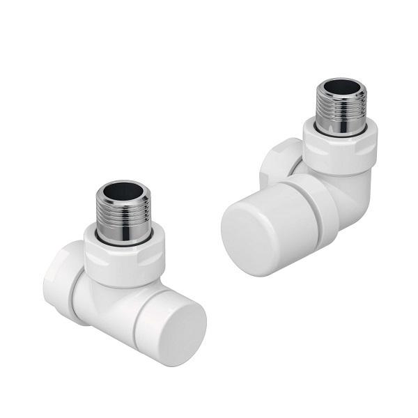 ZEHNDER Runtal set G ventil uhlový pravý  + spätné šróbenie biela 838981