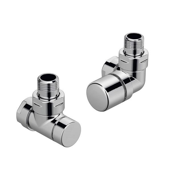 ZEHNDER Runtal set G ventil uhlový pravý + spätné šróbenie chróm 838988