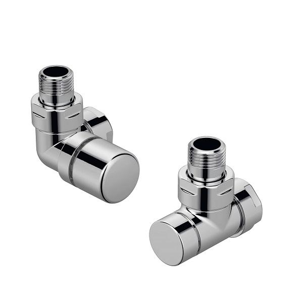 ZEHNDER Runtal set I ventil uhlový ľavý + spätné šróbenie chróm 838998