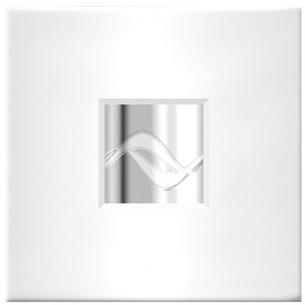 ZEHNDER Silent kryt na ventilátor 18 x 18 cm, s vložkou Rythm chróm