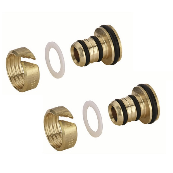 ZEHNDER ventily - set zverné šróbenie Runtal 16x2 mm pre plastové rúrky (2ks), 842060