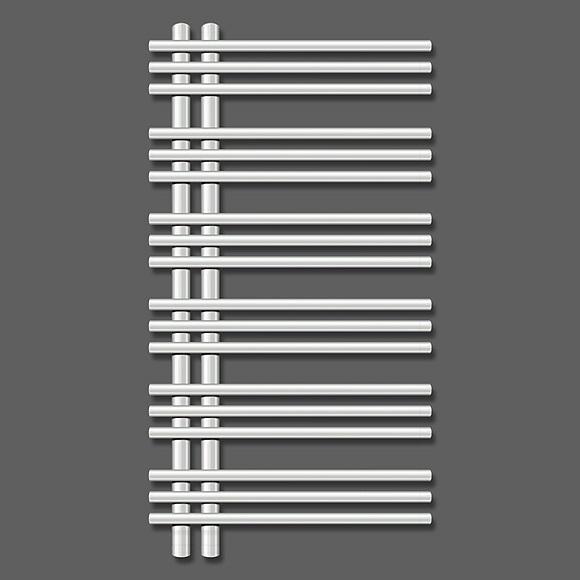 ZEHNDER Yucca asymetrická 900 x 500 mm radiátor chróm YAC-090-050