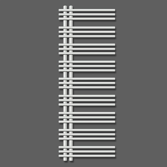 ZEHNDER Yucca asymetrická radiátor 1300 x 600 mm chróm YAC-130-060