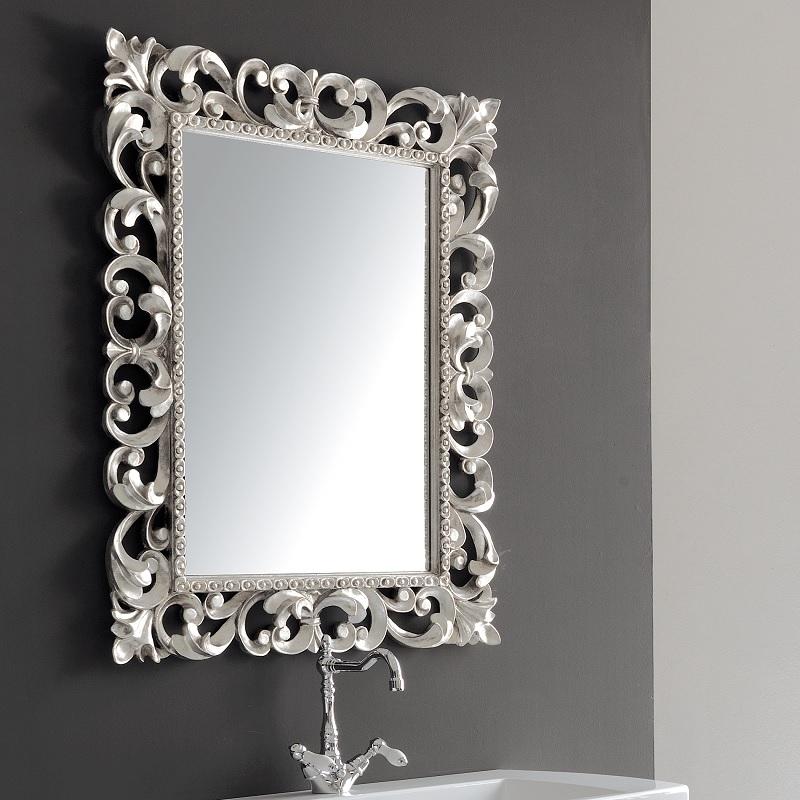 zrkadlo BAROCCA 76 x 96 strieborná